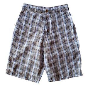 Billabong flat front casual shorts size 28 plaid